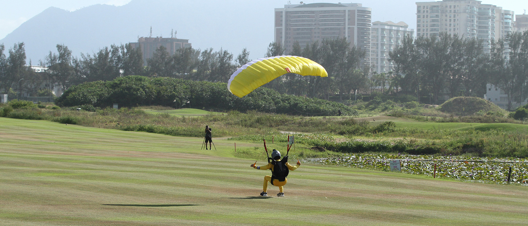 World's Smallest Canopy Landing