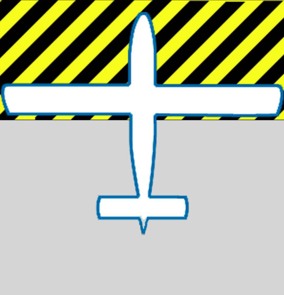 Aircraft danger area – the front